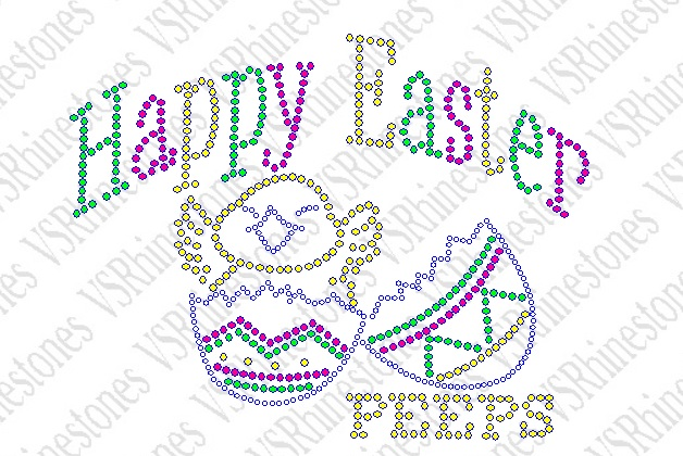 Happy Easter PEEPS Rhinestone Transfer
